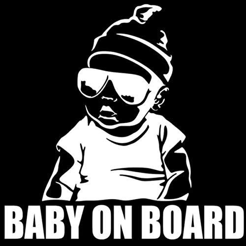 Nuevo bebé a bordo etiqueta engomada divertida del coche de dibujos animados (color: 2)