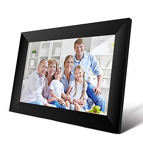 WWJJLL 16GB Digital Photo Frame, Wireless-LAN Digitaler Bilderrahmen mit 1280 * 800 IPS-Display Portrait und Landschaft Unterstützung 1080P Video EIN Geschenk für Familie und Freunde