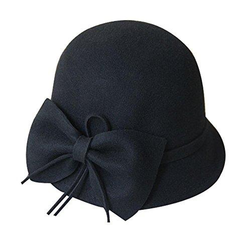 Blancho - Golf-Kappen für Mädchen in Schwarz, Größe 54-58 CM