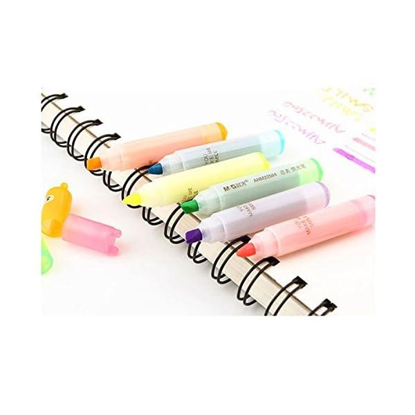 TOOGOO 6pzs Plumas resaltadoras Punta de punto fino marcadores permanentes Ninja lindo Papeleria de novedad Colores…