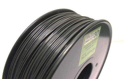 3D Printer Filament PLA 1.75mm - Black - High Tolerance - Wide Operating Temperature (1kg(330m))
