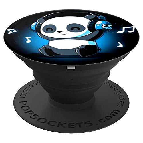 cool cute panda listening to music love music popsocket