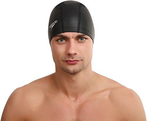 Speedo Pace Gorro de natación, Unisex, Negro, Talla Única