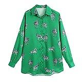 Moda para Mujer con Estampado De Animales, Ropa De Trabajo Informal, Blusas De Oficina para Mujer, Camisas De Negocios De Manga Larga, Camisetas Elegantes con Estampado De Cebra para Mujer