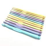 Fashion SHOP Ganchillos 2-10mm 12 PCS/manija de plástico Multicolor Crochet Hooks Agujas de Tejer de Punto Crochet Ganchos de Agujas de Tejer