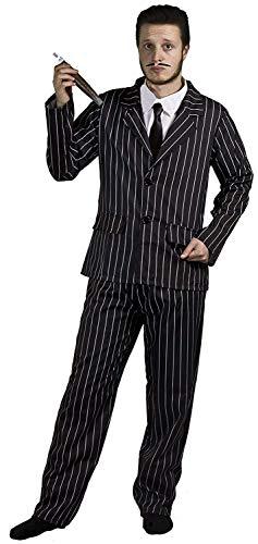 I LOVE FANCY DRESS LTD Gothic Familie KOSTÜM VERKLEIDUNG COMPLETTE Familien VERKLEIDUNG Fasching Halloween Karneval= Mister Anzug - Large
