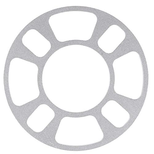 YYLVEV Automóviles Aluminio Alloy Wheel Hub Spacer Gasket 4 Agujero 8mm Ruedas Llantas neumático llanta Placa Accesorios de Coche Piezas (Color : 1)