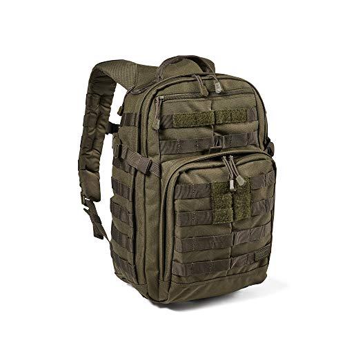 5.11 Mochila Táctica Rush 12 2.0 – Mochila Militar Molle, CCW Portación Oculta y Compartimento para Ordenador Portátil, 24 litros, Pequeña, Estilo 56561 – Color Verde Ranger