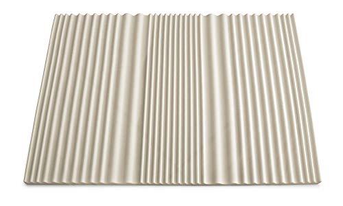 Talamo Topper Rinnova Materasso Sensation in Memory Foam con Effetto micromassaggiante 7 Zone Alto 5cm Made in Italy Piazza e Mezza 120x190 cm, Beige, Mezzo