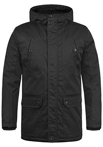 !Solid Walli Herren Übergangsparka Parka Mantel Lange Jacke Mit Kapuze, Größe:M, Farbe:Black (9000)