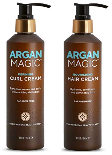 Argan Magic Defining Curl Cream & Nourishing Hair Cream Bundle