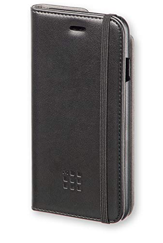 Moleskine MOFLBKP6BL Custodia a Libro per iPhone 6 e 6S con Classico Laccetto di Chiusura e Slot Porta Carta di Credito nel Retro, Nero