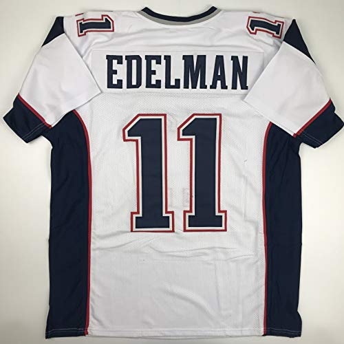 Unsigned Julian Edelman New England White Custom Stitched Football Jersey Size XL New No Brands/Logos