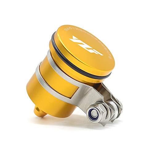Anhui-bss Depósito de aceite de la motocicleta freno trasero Depósito de líquido de la tapa del embrague Copa de fluidos for YAMAHA YZF R1 R3 R6 R15 R25 R125 R 2006-2016 universal (Color : Gold)