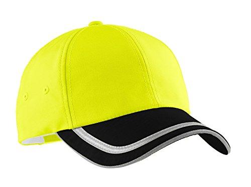 Port Authority Men's Enhanced Visibility Cap OSFA Sfty Ylw/Black/ Reflective