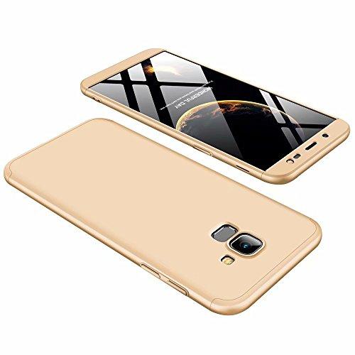 CIRRYS Custodie Custodia a Samsung Galaxy j6 2018 Case Cover originale a 360 gradi Protezione Leggero Bumper Protettiva Caso + Pellicola Protettiva - oro