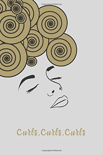 Curls, Curls, Curls Notebook: Gold Curls
