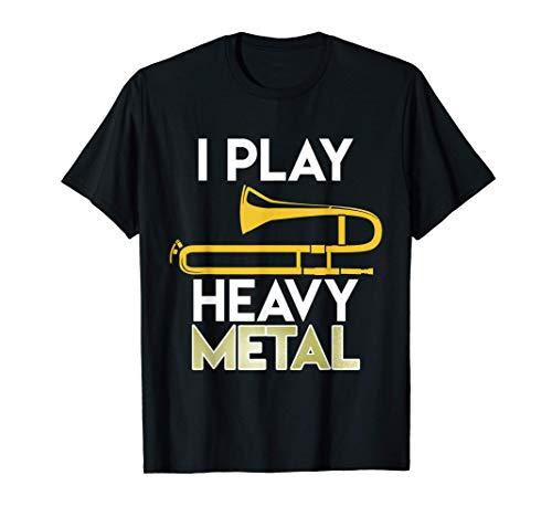 Trombettista Musica Heavy Metal Strumento Musicale Trombone Maglietta