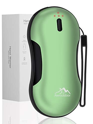 Awroutdoor Handwärmer Schnellladung USB, 9000mAh PD wiederaufladbarer Powerbank, Elektrische Tragbare Taschenwärmer, Ideales Wintergeschenk für Skifahren, Klettern, Wandern