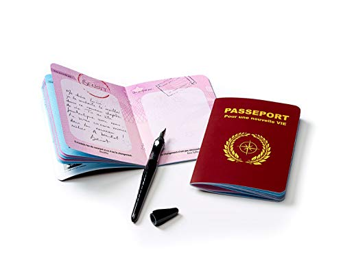 Pasaporte para una nueva vida (mutación, reconversión). Libro de visitas – Bote de inicio – Regalo para mujer/hombre.