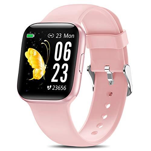 Yocuby - Reloj inteligente de 1,5 pulgadas para hombres y mujeres, IP68, resistente al agua, para teléfonos Android iOS, rastreador de actividad con monitor de sueño de ritmo cardíaco