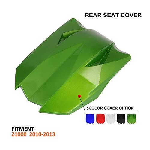 JFG RACING Motorrad Rücksitzverkleidung Passagier Sozius Verkleidung Schwanz Abdeckung Für Kawasaki Z1000 2010-2013 (grün)