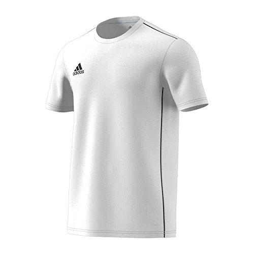 adidas CORE18 JSY T-Shirt, Hombre, White/Black, L