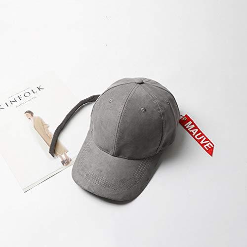 Sksngf Hut-Sommer-Alphabet Baseballmütze, Sonnenhut for Freizeit Reisen, Langen Streamer Hut, atmungsaktiv und atmungsaktiv, Einstellbare Größe Design, stilvoll und schön (Color : Gray)