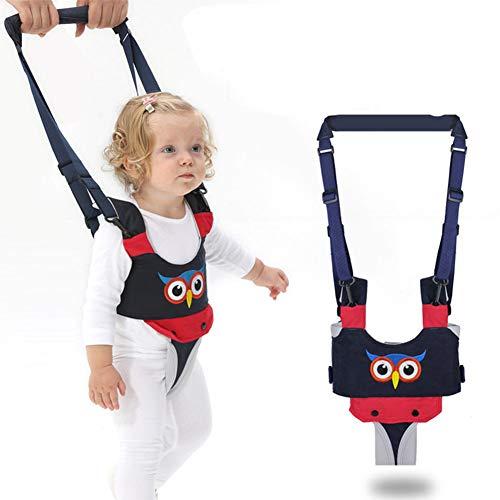 YEALEO Lauflernhilfe Gehhilfe für Baby Stehen Gehen Lernen Helfer Walker Sicherheitsleinen, 4 in 1 Funktionale Lauflerngurt für Kinder 7-24 Monate, C-Blau Eule