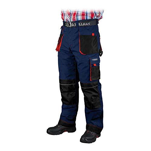 Lever&Hollman LH-FMNW-T_GBCM vormen gevoerde beschermbroek, donkerblauw-zwart-rood, maat M