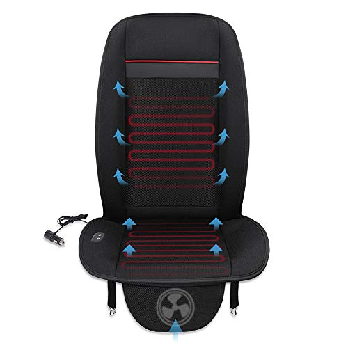 MICTUNING Heated Car Seat Cushion with 3 Levels Cooling and Heating Pad Seat Warmer Heater for Truck Home Office