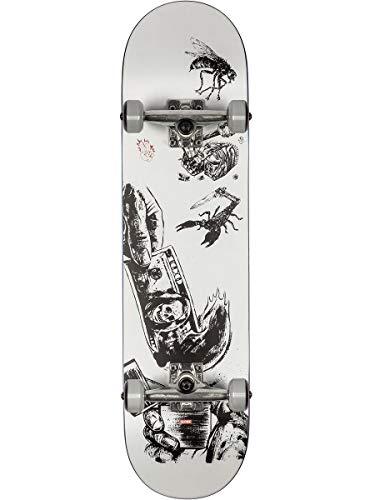 Globe G1 Hard Luck Skateboard Unisex Erwachsene, White/Black, 8.0