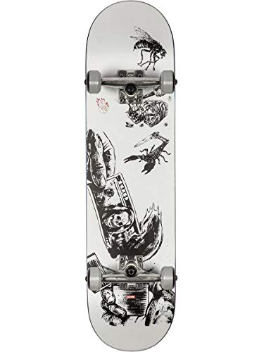Globe G1 Hard Luck Skateboard Unisex Erwachsene, White/Black, 8.0
