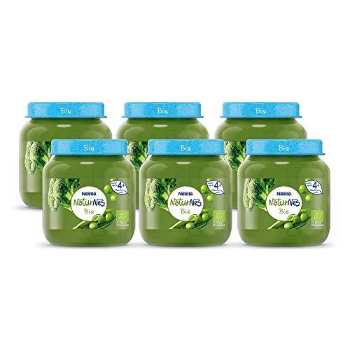 NaturNes Bio Doperwten Broccoli - babyvoeding biologisch - vanaf 4 maanden - 6 stuks