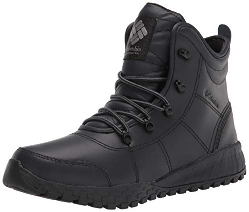 Columbia Men's Fairbanks Rover Snow Boot, Black/Charcoal, 14