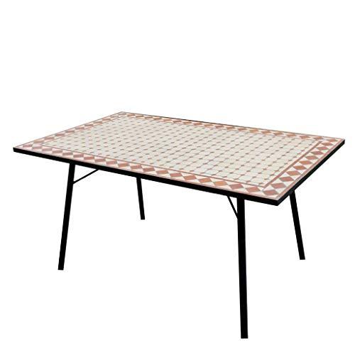 Tavolo da Giardino in Ferro con Piano in Mosaico TTM 12