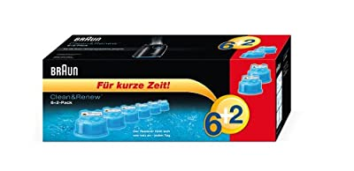 Braun Clean & Renew Cleaning Cartridge 6+ 2(Pack of 8) (Limited Edition)