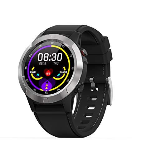 ANZQHUWAI Digitaluhren Wasserdicht 100M Noten-Uhr Tauchen Barometer Kompass Armband Altimeter Uhren Tauchen Uhr-Mann-Sport,Silber