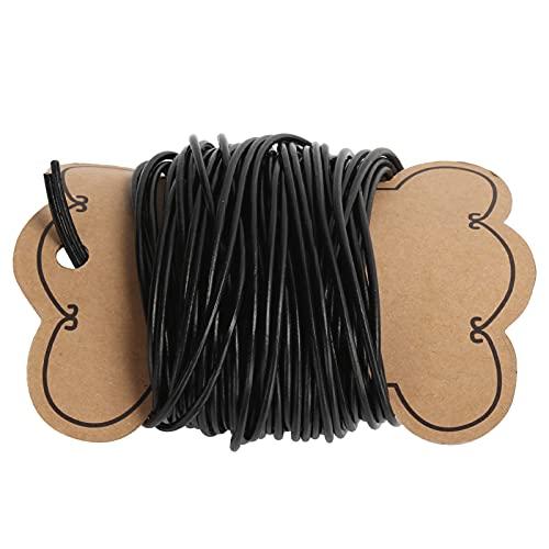 Hilo de cordón de abalorios, cordón de hilo encerado Hilo de abalorios de bricolaje para esmeraldas para pulsera, fabricación de joyas, artesanía(2 mm)