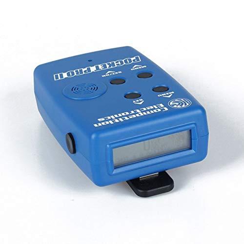 Wettbewerbselektronik Pocket Pro II Shot Timer mit Sensor Summer Piepser Hunter Training Shooting Timer Geschwindigkeitsmessungen-blau (BCVBFGCXVB)