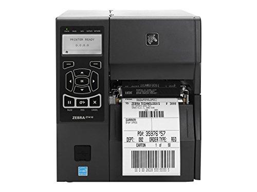 Zebra ZT410 24 points/mm (600dpi), RTC, écran, EPL, ZPL, ZPLII, USB, RS232, BT, Ethernet