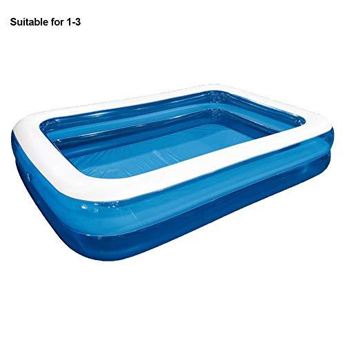 Aufblasbarer Pool Groß/klein Kinder Erwachsene Rechteckig, Haushalts-Planschbecken, Hochfestes, PVC, Verdicktes, Verschleißfestes Aufblasbares Marineball-Schwimmbecken