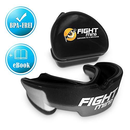 Fight Mind Premium Mundschutz - Zahnschutz für Boxen, Kampfsport - Mit E-Book - In praktischer Box