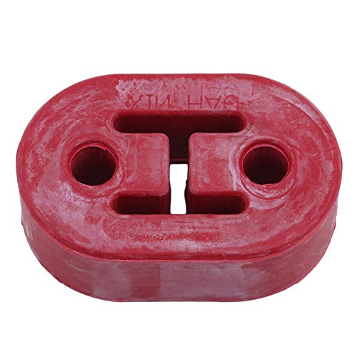 GUYAQ Auspuffendrohrhalterung Aufhänger Gummihalterung Hochleistungsbuchsenhalterung Gummihalterung Stoßdämpferhalterung,rot