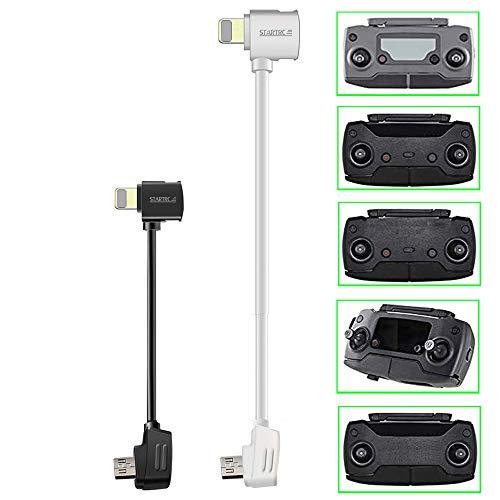 STARTRC Micro USB a OTG Cable de 3.9 y 11.8 Pulgadas de 90 Grados Datos Cable(para Phone) para dji Mavic Mini/Mavic Pro & Platinum/Mavic 2 Pro & Zoom/Spark/Mavic Air
