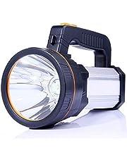 ALFLASH LED handschijnwerper 9000 lumen outdoor LED zaklamp draagbare lantaarn extreem helder USB oplaadbare CREE accu handlamp met werklamp Flashlight, 5Model zilver
