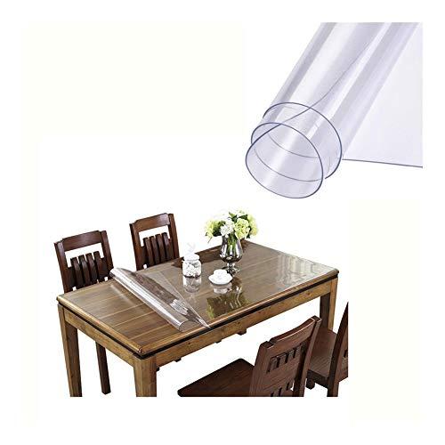 NINGWXQ Stoelmat for Hardhouten Berijpt Tapijtbeschermer Doorzichtig Vloermatten for Kantoor Plastic Tafelkleed, 3 Diktes, Aanpasbaar (Color : 2.0mm, Size : 70x120cm)