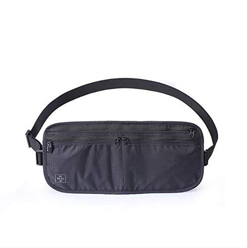FaSoLa Sports reizen waterdichte anti-diefstal zakken, verborgen lichaam multifunctionele mannen heuptas RFID pakket zwart (30 * 15cm)