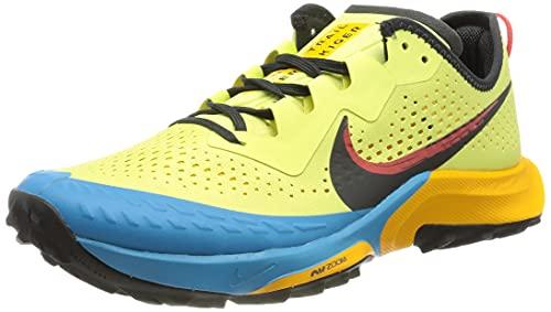 Nike Air Zoom Terra Kiger 7, Zapatillas para Correr Hombre, Limelight Off Noir Laser Blue Dk Sulfur Chile Red, 43 EU