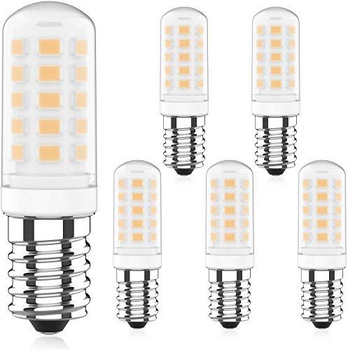 E14 LED Lampen 4W Dimmbar, 3000K Warmweiß, Ersetzt 40W Halogenlampen, 220-240V AC E14 LED Leuchtmittel, Bi-Pin E14 Sockel, 360° Abstrahlwinkel, 5er Pack